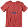 Patagonia Boys Live Simply Dipper Cotton/Poly T-Shirt Sumac Red